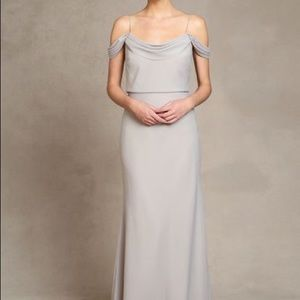 Jenny Yoo Sabine Bridesmaid Dress in Alpine Size 0